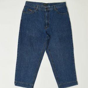 Eddie Bauer Plus 16 Blue   Straight Cotton Solid
